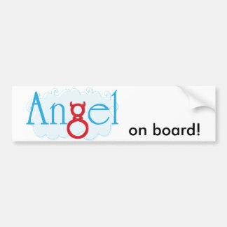 ¡Ángel a bordo! Etiqueta De Parachoque
