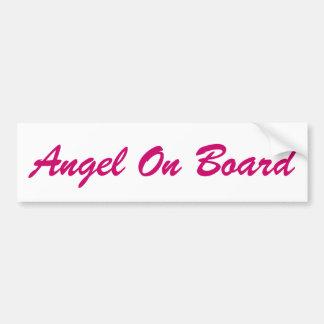 Ángel a bordo del coche de los ángeles de los pega pegatina para auto