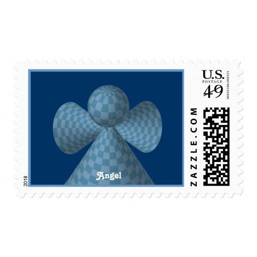 Ángel a cuadros azul sellos