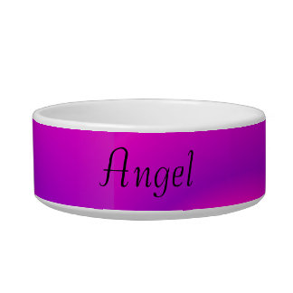 Angel Abstract Swirls of Pink and Purple Bowl