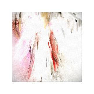 Ángel abstracto en la impresión blanca de la lona lona estirada galerias