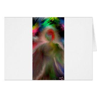 Ángel abstracto tarjeta de felicitación