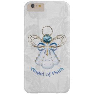 Ángel afiligranado azul del navidad de la fe funda de iPhone 6 plus barely there