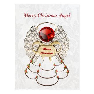 Ángel afiligranado metálico de las Felices Navidad Postales
