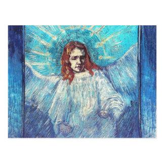 Angel after Rembrandt Van Gogh Fine Art Postcard