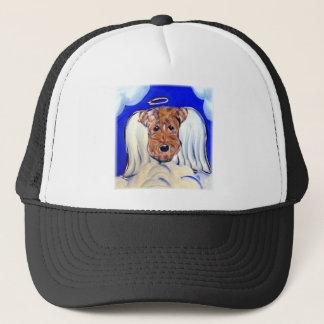 Angel Airedale Terrier Trucker Hat