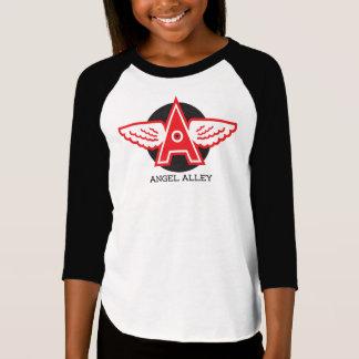 Angel Alley Girls' American Apparel 3/4 Sleeve Rag T-Shirt