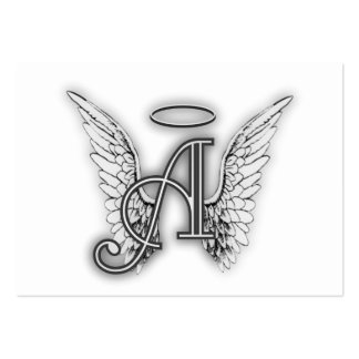 Angel Alphabet A Initial Latter Wings Halo Business Card Templates