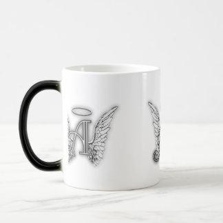 Angel Alphabet A Initial Latter Wings Halo Magic Mug