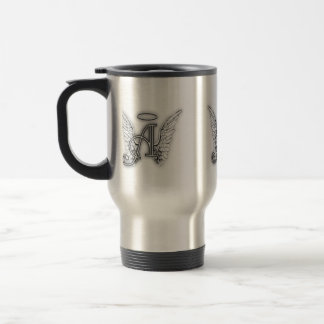 Angel Alphabet A Initial Latter Wings Halo Coffee Mugs