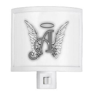 Angel Alphabet A Initial Latter Wings Halo Night Light