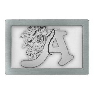 Angel Alphabet A Initial Monogram Belt Buckle