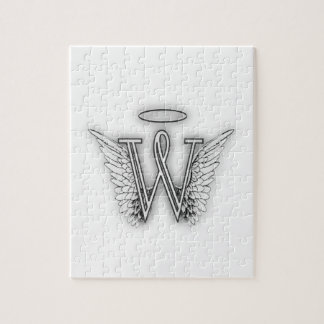 Angel Alphabet B Initial Letter Wings Halo Jigsaw Puzzle