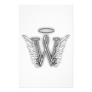 Angel Alphabet B Initial Letter Wings Halo Stationery