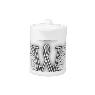 Angel Alphabet B Initial Letter Wings Halo Teapot