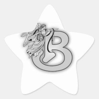 Angel Alphabet B Initial Monogram Sticker