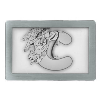 Angel Alphabet C Initial Monogram Belt Buckle