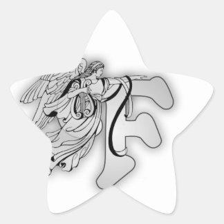 Angel Alphabet F Initial Monogram Stickers