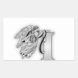 Angel Alphabet I Initial Monogram Sticker
