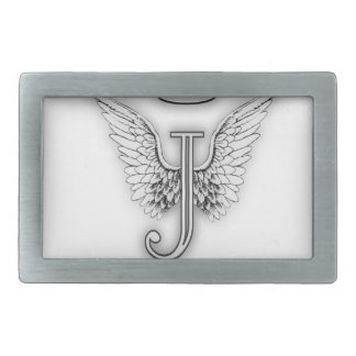 Angel Alphabet J Initial Letter Wings Halo Belt Buckle