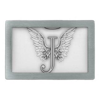 Angel Alphabet J Initial Letter Wings Halo Belt Buckle
