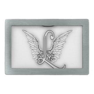 Angel Alphabet L Initial Letter Wings Halo Belt Buckle