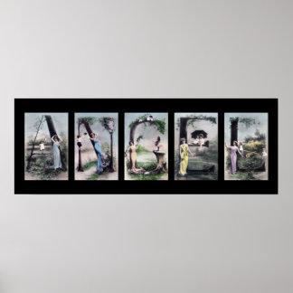 ANGEL Alphabet Letter Name Art Poster