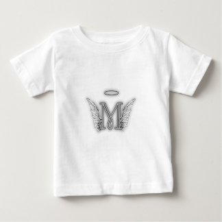 Angel Alphabet M Initial Letter Wings Halo Shirt