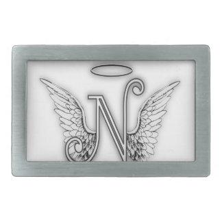 Angel Alphabet O Initial Letter Wings Halo Belt Buckle