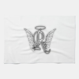 Angel Alphabet R Initial Letter Wings Halo Towel