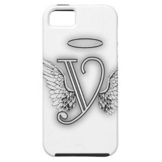 Angel Alphabet Y Initial Letter Wings Halo iPhone SE/5/5s Case