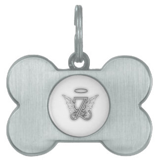 Angel Alphabet Z Initial Letter Wings Halo Pet Name Tag