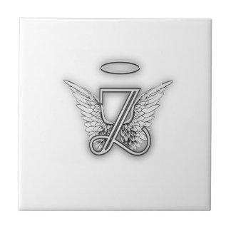 Angel Alphabet Z Initial Letter Wings Halo Tiles
