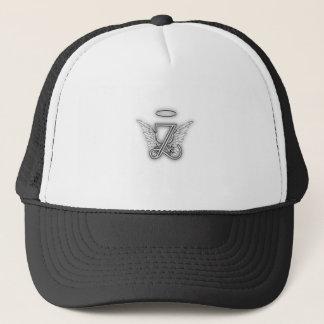 Angel Alphabet Z Initial Letter Wings Halo Trucker Hat
