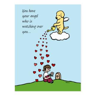 Ángel amarillo de Labrador con amor
