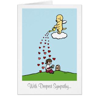 Ángel amarillo de Labrador con amor Tarjeta De Felicitación