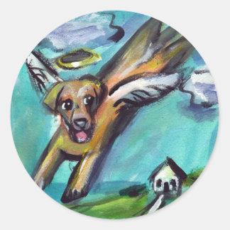 ángel amarillo de Labrador Pegatinas