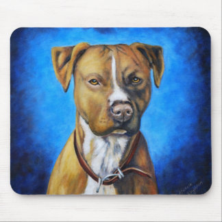 Angel American Staffordshire Terrier Dog Art Mouse Pad