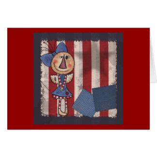 Ángel americano primitivo tarjeta de felicitación