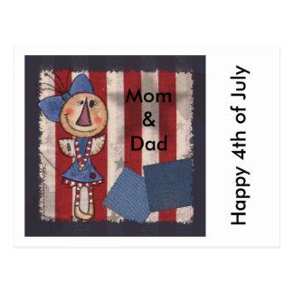 Ángel americano primitivo tarjeta postal