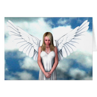 Angel Amongst The Clouds Card