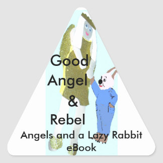 angel and a little rabbit from eBooks Triangle Stickers