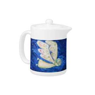 Angel and Baby Art Painting Teapot