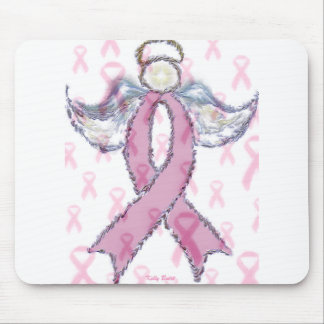 Angel and Breast Cancer Mouse Pad