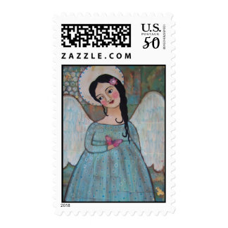 ANGEL AND BUTTERFLY POSTAGE STAMP