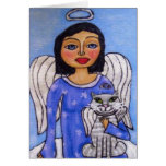 Angel and Cat  Holiday Card
