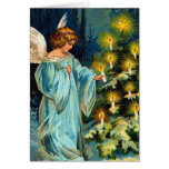 """Angel and Christmas Tree"" Vintage Cards"