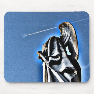Angel and Contrail Mouse Pad