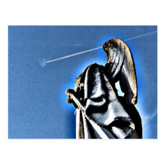 Angel and Contrail Postcard