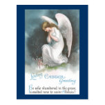 Angel and Crocus Flowers Vintage Easter Postcard